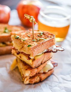 Bacon and Apple Grilled Cheese Sandwiches   www.cookingandbeer.com   @jalanesulia