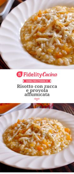 Risotto con zucca e provola affumicata Sweet Recipes, Healthy Recipes, Yummy Food, Tasty, Risotto Recipes, Gnocchi, Macaroni And Cheese, Food And Drink, Dishes