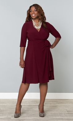 Our plus size Essential Wrap Dress is a timeless wrap dress that is vital for any woman's wardrobe.  A flattering silhouette and clean lines give you a beautiful look, while the true wrap design helps with a custom feeling fit.