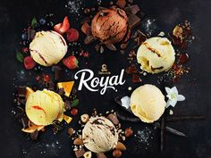 Royal / Diplom-Is Camembert Cheese, Dairy, Packaging, House Design, Logo, Logos, Logo Type, Wrapping, Architecture Illustrations