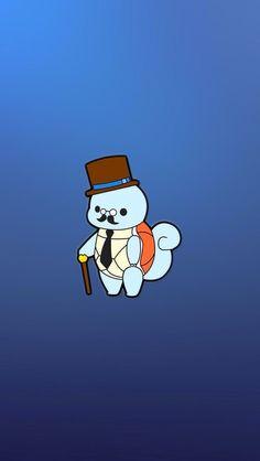 ↑↑TAP AND GET THE FREE APP! Art Creative Cartoon Pokemon Minamalistic Blue HD iPhone Wallpaper