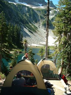 Snow Lake Camp Site, Mt. Rainier National Park, Washington State, USA.