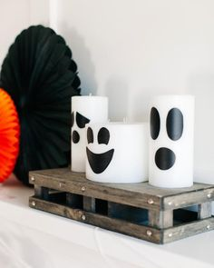 How to Make Ghost Candles For Halloween http://www.diynetwork.com/how-to/make-and-decorate/entertaining/how-to-make-halloween-ghost-candles >>
