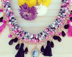 Collar boho-romantic por MiDulcealondra en Etsy
