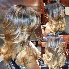 Gold ombre hair