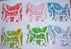 styrofoam stamping - south africa kids craft