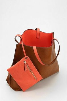 Reversible Faux Leather Tote & Wristlet | Bags, Stitches and ...