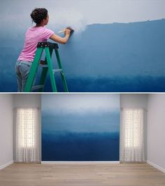 Adding the Ombre Effect to an accent wall is a great way to introduce your own personal color to a room. Get started with these easy-to-follow instructions!
