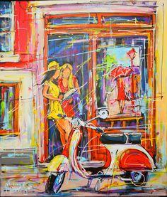 Nu in de #Catawiki veilingen: Mathias - Street of Amsterdam, girls on the small gallery