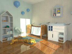 COLORATO: Niebieski kącik niemowlaka. Z wykorzystaniem mebli dziecięcych z serii COLOR CITY: http://www.colorato.pl/meble-dzieciece-i-mlodziezowe-meble-dzieciece-color-city