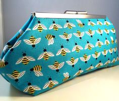 This is just too Cute! Perfect for summer!!! Bumblebee Clutch by SewSarahR on Etsy, $30.00