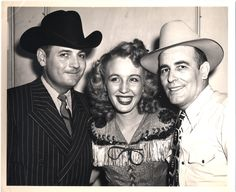 From Texas Playboys tour, 1947: Tommy Duncan, Carolina Cotton and Bob Wills