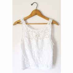 Hollsiter Lace Tank. Gorgeous lacey tank from Hollister. Sheer chest with a extra piece of fabric from breasts down. In perfect condition, rarely worn. Hollister Tops Tank Tops