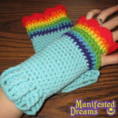 Rainbow Dash Arm warmers My Little Pony Friendship is Magic inspired.