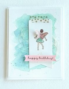 Another easy card using Fairy Celebration from @Stampin'Up. Isn't she adorable?