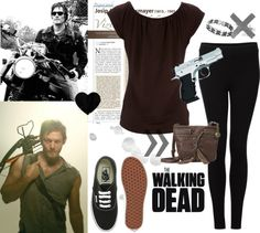 """Daryl Dixon ~ The Walking Dead."" by cockiness ❤ liked on Polyvore"