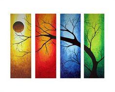 Decoration, China Modern Abstract Huge Canvas Art Oil Painting Wall Decor Three Canvas Painting Ideas Unique Image Tree Gray Wall Paint Color Living Room Minimalist Elegant Beautiful Amazing: Simple Three Canvas Painting Ideas On Your Wall Art Watercolor, Oil Painting Abstract, Oil Paintings, Simple Paintings, Turtle Painting, Colorful Paintings, Painting Canvas, Beautiful Paintings, Art Moderne