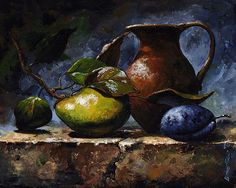 Emerico Imre Toth - Pear and plum.  Quality prints into your home.