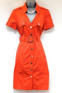 Karen Millen DN116 Pencil Safari Trench Shirt Dress Size 12 | eBay