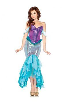 Purple Aqua Deluxe Ariel @ Amiclubwear costume Online Store
