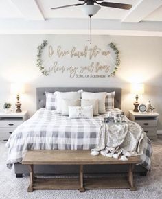 If you are looking for Farmhouse Master Bedroom Decor Ideas, You come to the right place. Below are the Farmhouse Master Bedroom Decor Ideas. Farmhouse Master Bedroom, Home Bedroom, Modern Bedroom, Contemporary Bedroom, Bedroom Ideas Master On A Budget, Bedroom Small, Bedroom Wardrobe, Bedding Master Bedroom, Master Bedroom Furniture Ideas