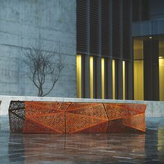 Galvanized steel Bench ZADIG BENCH - LAB23