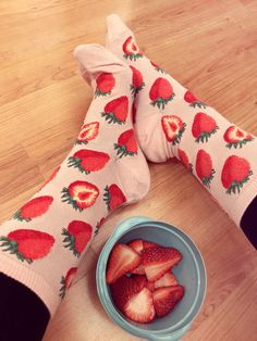 Our Sweet Strawberries Women's Crew Socks are the perfect complement to eating the real thing!