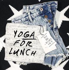 Lunch break! Tee @shop.luciana