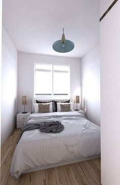 67 Simple Bedroom Ideas For Small Rooms Apartments 17 - onlyhomely Small Bedroom Ideas For Couples, Small Bedroom Designs, Small Room Design, Small Double Bedroom, Small Master Bedroom, Small Rooms, Small Spaces, Small Apartment Bedrooms, Small Small
