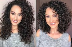MaryLou of Imago Salon gave her client this fresh helping to bring stronger definition and more volume! MaryLou of Imago Salon gave her client this fresh helping to bring stronger definition and more volume! Curly Hair Salon, Dry Curly Hair, Layered Curly Hair, Haircuts For Curly Hair, Curly Hair Tips, Curly Hair Styles, Curly Girl, Medium Length Curly Hairstyles, Medium Curly Bob