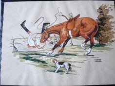 Lithographie LE RALLIC équitation cheval