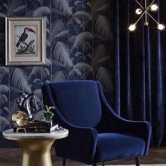 "All blue        Alexandra Poster Bennaim (@alexandraposterbennaim) su Instagram: ""HEAVENLY BLUE @cole_and_son_wallpapers @alexandrapublicrelations #coleandson #wallpaper…"""