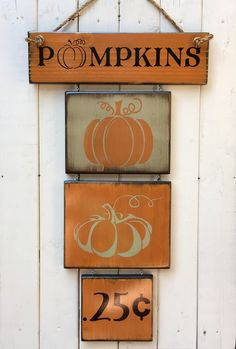 A personal favorite from my Etsy shop https://www.etsy.com/listing/553173447/pumpkins-sign-fall-decor-farmhouse-farm Pumpkins Sign, fall decor, farmhouse, farm sign, reclaim wall art, wreath, door sign, welcome sign, fall y'all, wood sign saying, autumn
