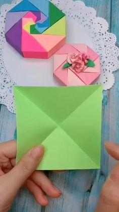Boy Diy Crafts, Cool Paper Crafts, Diy Crafts Hacks, Paper Crafts Origami, Diy Crafts For Gifts, Instruções Origami, Origami Simple, Origami Wallet, Origami Heart