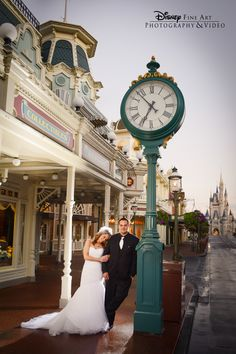 What better place for a Bridal Portrait Session than Main Street, U.S.A.? #wedding #Disney. Photo: Ty, Disney Fine Art Photography