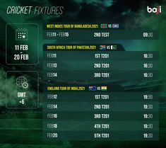 ম্যাচের সিডিউল দেখুন baji555! এখনই baji555 এ বেট ধরুন এবং উইন বিগ! #baji #Sports #Cricket #Schedule #Fixtures Cricket Fixtures, South Africa Tours, West Indies