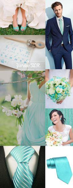 Wedding Inspiration for Aqua Blue A