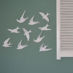 swallow wall art - Use these fun paper birds to create a lively visual on any wall, mirror, cupboard or fridge... | Handcrafted gifts | KAMERS gifts www.kamersgifts.com.au