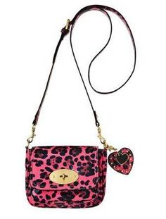 Cute! Mulberry for Target Pink Leopard Crossbody Handbag Purse EUC RARE