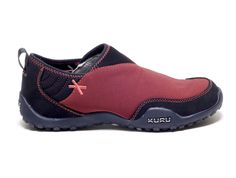 Womens Slip-on Shoes for heel pain relief from KURU Footwear.  Slipstream Black & Red #iheartkuru