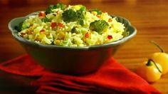 Arroz rápido com verduras