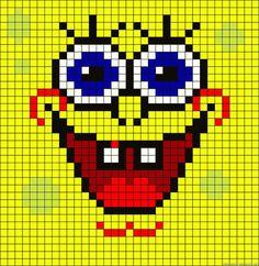 SpongeBob - Cool Perler Bead Patterns, http://hative.com/cool-perler-bead-patterns/,