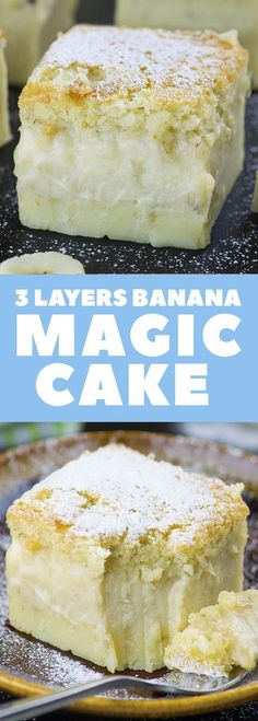The best QUICK and EASY CAKE RECIPE with just few simple ingredients - Banana Magic Cake.