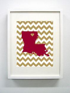 ULM University of Louisiana  Monroe Giclée Print  by PaintedPost, $14.00