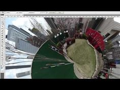 Photoshop Tutorial - Create a Panosphere from HX300 360 Degree Panorama