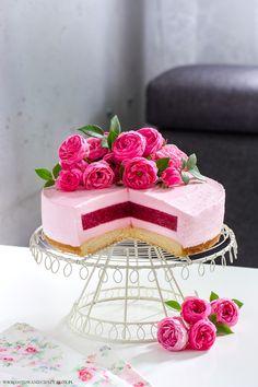 Sernik malonowy Raspberry cheesecake