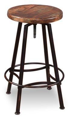 Conrad Adjustable Height Swivel Bar Stool