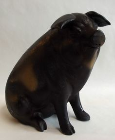 Vintage Pottery Pig Ceramic Piggy Coin Bank. This little piggy bank bears a striking resemblance to Jack.