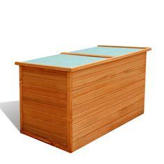 vidaXL Truhe Garten-Aufbewahrungsbox aus Holz wasserfest