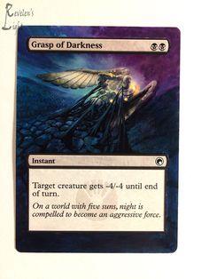 Grasp of Darkness - Extended MTG Alter - Revelen's Light Altered Art Magic Card #WizardsoftheCoast
